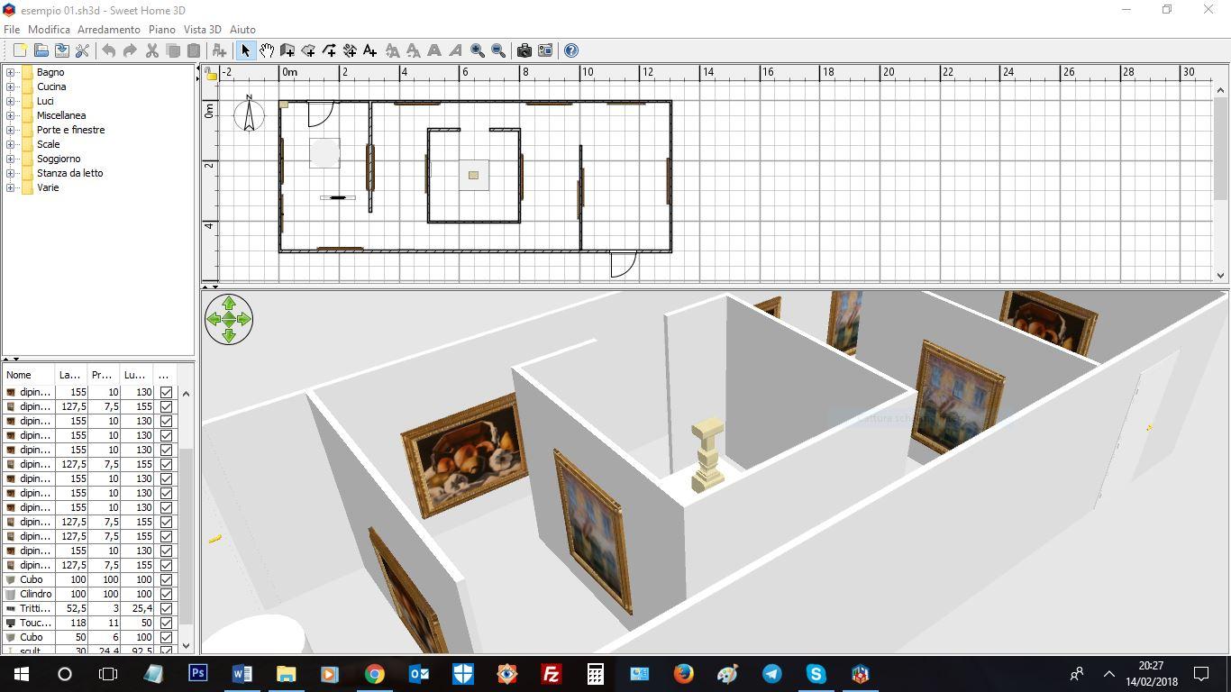 Allestimento ed esposizione museale artedata for Progettazione 3d online